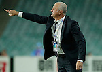 SYDNEY - APRIL 05:  Sydney FC head coach Graham Arnold talks to players during the AFC Champions League group H match between Sydney FC and Pohang Steelers on 05 April 2016 held at Sydney Football Stadium in Sydney, Australia. Photo by Mark Metcalfe / Power Sport Images *** Local Caption *** Graham Arnold