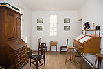 Interior of a house in Colonial Williamsburg, Virginia.
