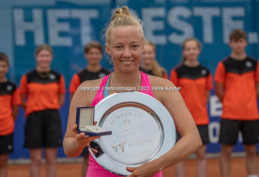 Amstelveen, Netherlands, 10 Juli, 2021, National Tennis Center, NTC, Amstelveen Womans Open, Singles final:  Runner up: Yana Morderger (GER)<br /> Photo: Henk Koster/tennisimages.com