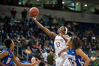 NORFOLK, VA--Chiney Ogwumike makes the opening points against Hampton University at the Ted Constant Convocation Center at Old Dominion University in Norfolk, VA in the first round of the 2012 NCAA Championships. The Cardinal advanced with a 73-51 win to play West Virginia on Monday, March 19.
