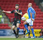 St Johnstone v Inverness Caledonian Thistle....22.02.14    SPFL<br /> Ross Draper and Chris Iwelumo<br /> Picture by Graeme Hart.<br /> Copyright Perthshire Picture Agency<br /> Tel: 01738 623350  Mobile: 07990 594431