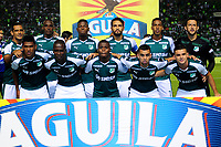 PALMIRA - COLOMBIA - 24 - 02 - 2018: Los jugadores de Deportivo Cali, posan para una foto, durante partido entre Deportivo Cali y Millonarios de la fecha 5 por la liga Aguila I 2018, jugado en el estadio Deportivo Cali (Palmaseca) en la ciudad de Palmira. / The players of Deportivo Cali, pose for a photo, during a match between Deportivo Cali and Millonarios of the 5th date for the Liga Aguila I 2018, at the Deportivo Cali (Palmaseca) stadium in Palmira city. Photo: VizzorImage  / Nelson Rios / Cont.