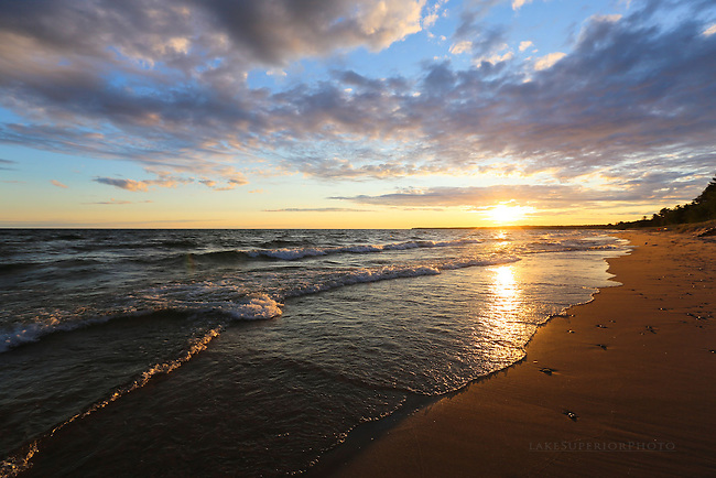 Lake Superior Spring sunrise, Sand River M