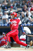 Michael Enriquez of the Cuban national team during game against the Dominican Republic team during the World Baseball Championships at Petco Park in San Diego,California on March 18, 2006. Photo by Larry Goren/Four Seam Images