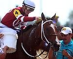 June 21, 2014: Speedinthruthecity and jockey Julien Leparoux win the Roxelana Stakes at Churchill.  Owner Winchell Thoroughbreds, trainer Steve Asmussen.  ©Mary M. Meek/ESW/CSM