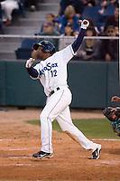 July 11, 2010: Everett AquaSox's Dwight Britton (12) at-bat during a Northwest League game against the Boise Hawks at Everett Memorial Stadium in Everett, Washington.