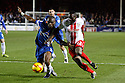 Francis Zoko of Stevenage battles with Gabriel Zakuani of Peterborough<br />  - Peterborough United v Stevenage - Sky Bet League One - London Road, Peterborough - 23rd November 2013. <br /> © Kevin Coleman 2013