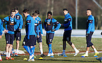 Loan signings Gael Bigirimana, Haris Vuckic and Remie Streete together at training