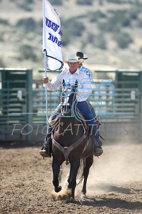 Danny Nalder rides in the opening ceremony of the Minden Ranch Rodeo on Sunday, July 24, 2011, in Gardnerville, Nev. .Photo by Cathleen Allison