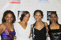 """Guiding Light Yvonna Wright and Kim Brockington along with Adriane Lenoz (Tony winner 2007 for """"Doubt"""") and actress Sally Stewart as they attend the Innaugural Celebration of Color on Broadway Awards were held on June 8, 2011 at SAKS Fifth Avenue, New York City, New York. The event was held upstairs where beautiful shoes are sold and where a part of the sales this night will benefit OPUS 118 Harlem's School of Music. (Photo by Sue Coflin/Max Photos)"""