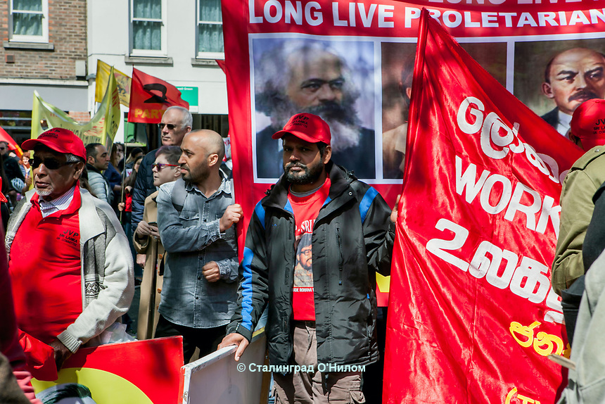 Mayday 2018 Trade Unions and Anti Imperialist Mayday March from Clerkenwell to Trafalgar Square