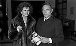 CLAUDIO CARDINALE CON PASQUALE SQUITIERI<br /> SERATA FENDI AL TEATRO DELL'OPERA ROMA 1980
