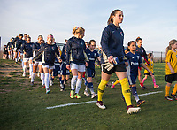 Boyds, MD - April 14, 2018: The North Carolina Courage defeated the Washington Spirit 4-2 during a National Women's Soccer League (NWSL) match at the Maryland SoccerPlex.