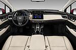 Stock photo of straight dashboard view of a 2018 Honda Clarity Plug-In Hybrid 4 Door Sedan