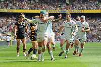 Jack Nowell of Exeter Chiefs celebrates scoring a try during the Premiership Rugby Final at Twickenham Stadium on Saturday 27th May 2017 (Photo by Rob Munro)