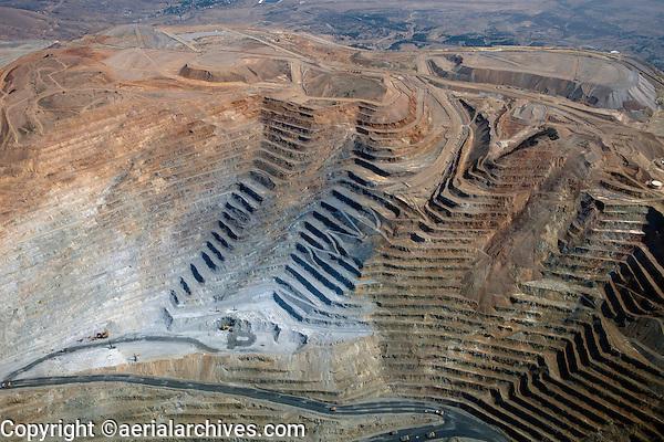 aerial photograph Bingham Canyon Open Pit Copper Mine, Utah
