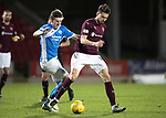 St Johnstone v Hearts…05.04.17     SPFL    McDiarmid Park<br />Krystain Nowak and Blair Alston<br />Picture by Graeme Hart.<br />Copyright Perthshire Picture Agency<br />Tel: 01738 623350  Mobile: 07990 594431