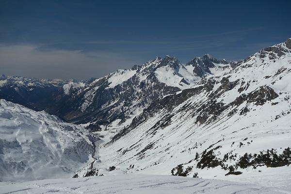 Flexenspitze seen from St Anton Ski Area, Austria,