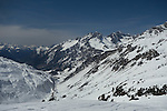 Flexenspitze seen from St Anton Ski Area, Austria,