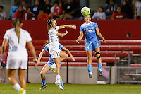 Chicago, IL - Saturday July 30, 2016: Erika Tymrak, Danielle Colaprico during a regular season National Women's Soccer League (NWSL) match between the Chicago Red Stars and FC Kansas City at Toyota Park.