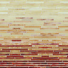 Mist Glass Stalks, a hand-cut jewel glass mosaic, shown in Carnelian, Tiger's Eye, Agate, and Quartz.