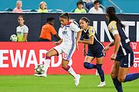 Miami Gardens, Florida - Sunday, July 29, 2018: North Carolina Courage vs Olympique Lyonnais Féminin at the Hard Rock Stadium.