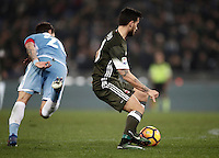 Calcio, Serie A: Lazio, Stadio Olimpico, 13 febbraio 2017.<br /> Milan's Fernandez Suso scores during the Italian Serie A football match between Lazio and Milan at Roma's Olympic Stadium, on February 13, 2017.<br /> UPDATE IMAGES PRESS/Isabella Bonotto