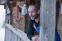 Europe/France/Rhône-Alpes/74/Haute-Savoie/Le Grand-Bornand:  Albert Bonamy , Restaurant: La Ferme de Lormay dans la  Vallée du Bouchet  [Non destiné à un usage publicitaire - Not intended for an advertising use]