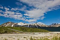 Little miller creek drainage, trans Alaska oil pipeline, Alaska Range mountains, Interior, Alaska.