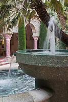 Europe/France/Languedoc-Roussillon/66/Pyrénées-Orientales/Molitg-les-Bains: Grand Hôtel, Thermes de Molitg les Bains _ L' établissement thermal: Fontaine