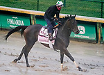 September 2, 2020: Donna Veloce exercises as horses prepare for the 2020 Kentucky Derby and Kentucky Oaks at Churchill Downs in Louisville, Kentucky. The race is being run without fans due to the coronavirus pandemic that has gripped the world and nation for much of the year. John Voorhees/Eclipse Sportswire/CSM
