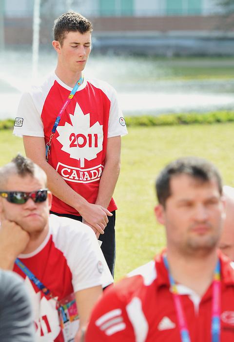 Guadalajara 2011.<br /> Highlights from Team Canada's Remembrance Day ceremonies in the Athlete's Village // Faits saillants des cérémonies du jour du Souvenir d'Équipe Canada au Village des athlètes. 11/11/2011.