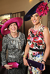 Co-chairs Linda Hunsaker and Jana Arnoldy at the Hermann Park Conservancy Hat Party Tuesday March 9,2010. (Dave Rossman Photo)