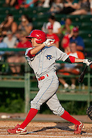 May 6 2010: Troy Hanzawa (21) of the Clearwater Threshers during a game vs. the Daytona Cubs at Jackie Robinson Ballpark in Daytona Beach, Florida. Clearwater, the Florida State League High-A affiliate of the Philadelphia Phillies, won the game against Daytona, affiliate of the Chicago Cubs, by the score of 8-3.  Photo By Scott Jontes/Four Seam Images