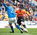 Dundee Utd's Nadir Ciftci shoots wide.