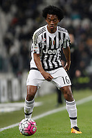 Calcio, Serie A: Juventus vs Sassuolo. Torino, Juventus Stadium, 11 marzo 2016. <br /> Juventus' Juan Cuadrado in action during the Italian Serie A football match between Juventus vs Sassuolo, at Turin's Juventus Stadium, 11 March 2016.<br /> UPDATE IMAGES PRESS/Isabella Bonotto