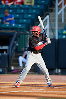 Chattanooga Lookouts shortstop Nick Gordon (5) at bat during a game against the Jackson Generals on April 29, 2017 at The Ballpark at Jackson in Jackson, Tennessee.  Jackson defeated Chattanooga 7-4.  (Mike Janes/Four Seam Images)