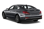 Car pictures of rear three quarter view of a 2019 Genesis G70  Prestige 4 Door Sedan angular rear