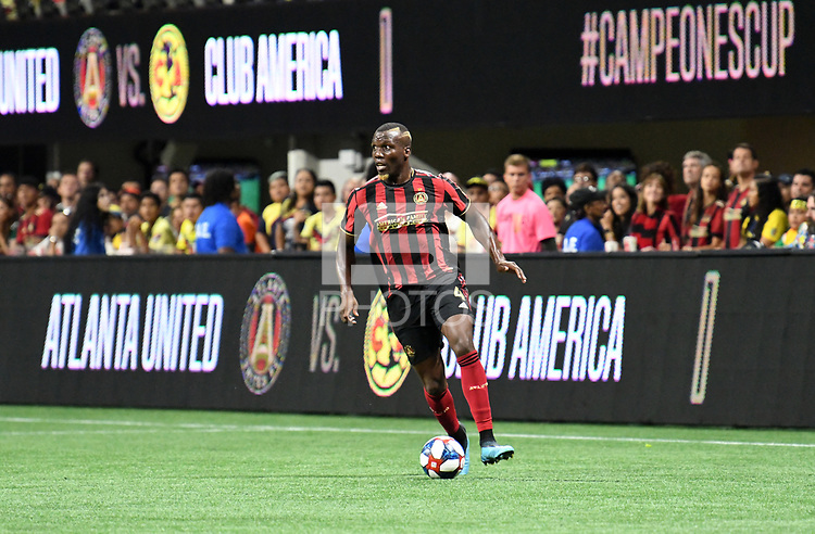 Atlanta, GA - August 14, 2019. Atlanta United FC defeated Club America, 3-2, in the Campeones Cup played at Mercedes-Benz Stadium in front of a crowd of 40,128.