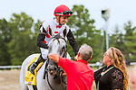 OCEANPORT, NJ - JULY 02: World Approval, #4 ridden by Florent Geroux, wins the Gr.1 United Nations Stakes at Monmouth Park, July 2, 2016 in Oceanport, New Jersey. (Photo by Sue Kawczynsk/Eclipse Sportswire/Getty Images)