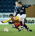11/01/2011   Copyright  Pic : James Stewart.sct_jsp016_falkirk_v_partick_th   .:: LIAM BUCHANAN IS KNOCK OFF THE BALL BY MARK MILLAR ::.James Stewart Photography 19 Carronlea Drive, Falkirk. FK2 8DN      Vat Reg No. 607 6932 25.Telephone      : +44 (0)1324 570291 .Mobile              : +44 (0)7721 416997.E-mail  :  jim@jspa.co.uk.If you require further information then contact Jim Stewart on any of the numbers above........