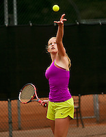August 6, 2014, Netherlands, Rotterdam, TV Victoria, Tennis, National Junior Championships, NJK,  Jill van der Dungen (NED)<br /> Photo: Tennisimages/Henk Koster