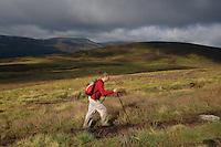 A walker ascending the Corbett of Ben Tirran above Glen Clova, Angus<br /> <br /> Copyright www.scottishhorizons.co.uk/Keith Fergus 2011 All Rights Reserved