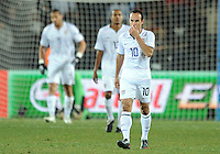 Landon Donovan of USA looks dejected after Brazil's third goal. Brazil defeated USA 3-2 in the FIFA Confederations Cup Final at Ellis Park Stadium in Johannesburg, South Africa on June 28, 2009.