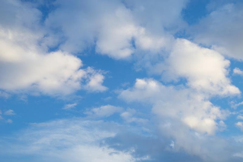 Clouds over alvord desert.