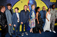 """LOS ANGELES, USA. October 15, 2019: Andrew Howard, Tom Mison, Tim Blake Nelson, Don Johnson, Jean Smart, Regina King, Damon Lindelof, Nicole Kassell & Yahya Adbul-Meteen II at the premiere of HBO's """"Watchmen"""" at the Cinerama Dome, Hollywood.<br /> Picture: Paul Smith/Featureflash"""