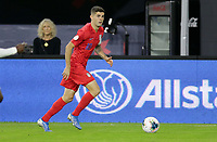 WASHINGTON, D.C. - OCTOBER 11: Christian Pulisic #10 of the United States dribbles with the ball during their Nations League game versus Cuba at Audi Field, on October 11, 2019 in Washington D.C.