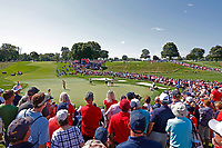 5th September 2021; Toledo, Ohio, USA;  Fans gather on the 17th hole to watch Lizette Salas and Jennifer Kupcho of Team USA close out their match against Anna Nordqvist and Matilda Castren of Team Europe during the morning Four-Ball competition during the Solheim Cup on September 5th