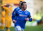 Motherwell v St Johnstone...28.01.12  .Jody Morris celebrates his goal.Picture by Graeme Hart..Copyright Perthshire Picture Agency.Tel: 01738 623350  Mobile: 07990 594431