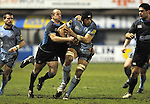 Maama Molitka charges through the Glasgow defence. Cardiff Blues V Glasgow Warriors, Magners league. © Ian Cook IJC Photography iancook@ijcphotography.co.uk www.ijcphotography.co.uk